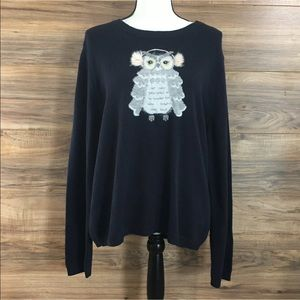 Kate Spade Broome Street Owl Sweater Wool New